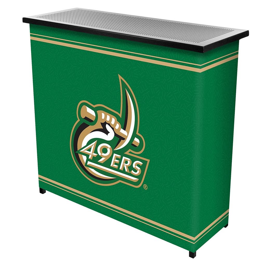 Charlotte 49ers 2-Shelf Portable Bar with Case