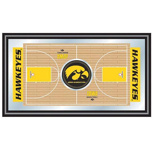 Iowa Hawkeyes Framed Basketball Court Mirror