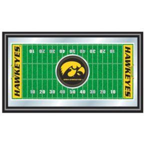 Iowa Hawkeyes Framed Football Field Mirror