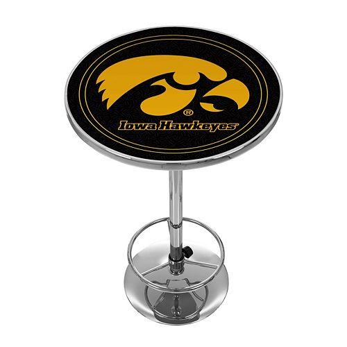 Iowa Hawkeyes Chrome Pub Table