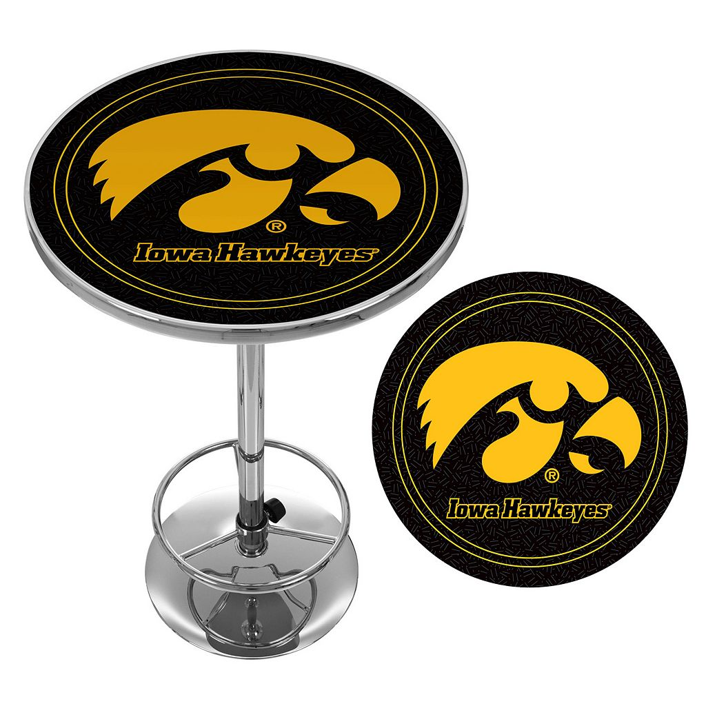 Iowa Hawkeyes Chrome Pub Table