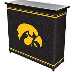 Iowa Hawkeyes 2-Shelf Portable Bar with Case