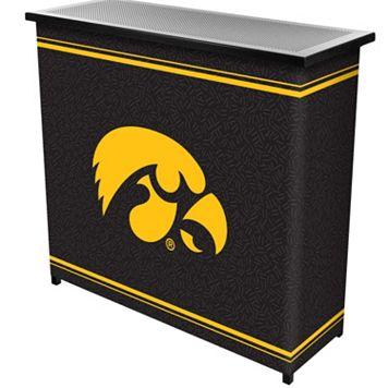 Iowa Hawkeyes 2-Shelf Portable Bar with Case