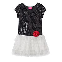 Pinky Los Angeles Drop-Waist Sequin Dress - Toddler