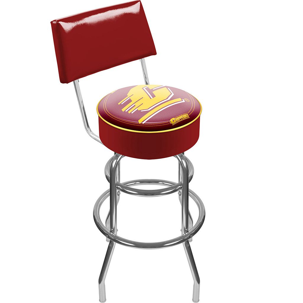 Central Michigan Chippewas Padded Swivel Bar Stool with Back