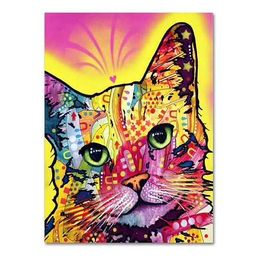 """24"""" x 18"""" """"Tilt Cat"""" Canvas Wall Art"""