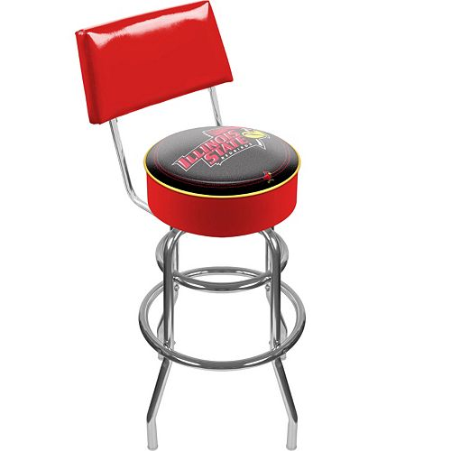 Illinois State Redbirds Padded Swivel Bar Stool with Back