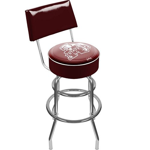 Mississippi State Bulldogs Padded Swivel Bar Stool with Back