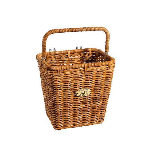Nantucket Bicycle Basket Co. Cisco Pannier Bike Basket & Hooks