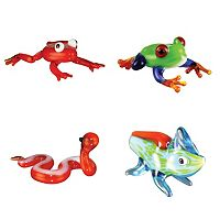 Looking Glass 4-pk. Frog, Sidewinder & Chameleon Mini Figurines