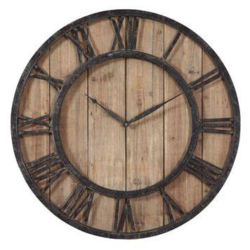 Powell Wood Wall Clock