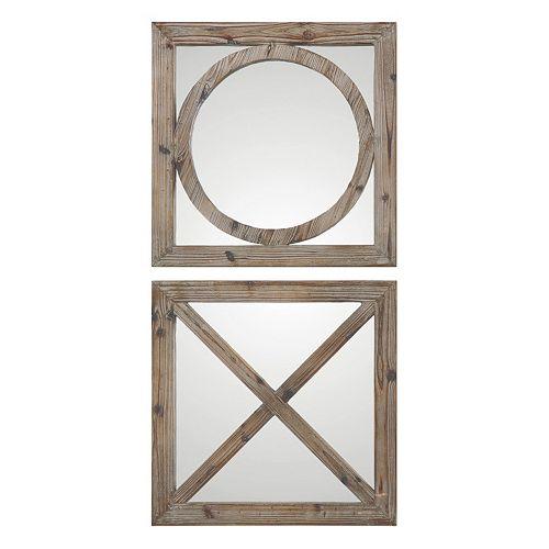 Abbracci 2-piece Wood Wall Mirror Set