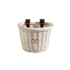 Kids Nantucket Bicycle Basket Co. Cruiser White D-Shape Bike Basket