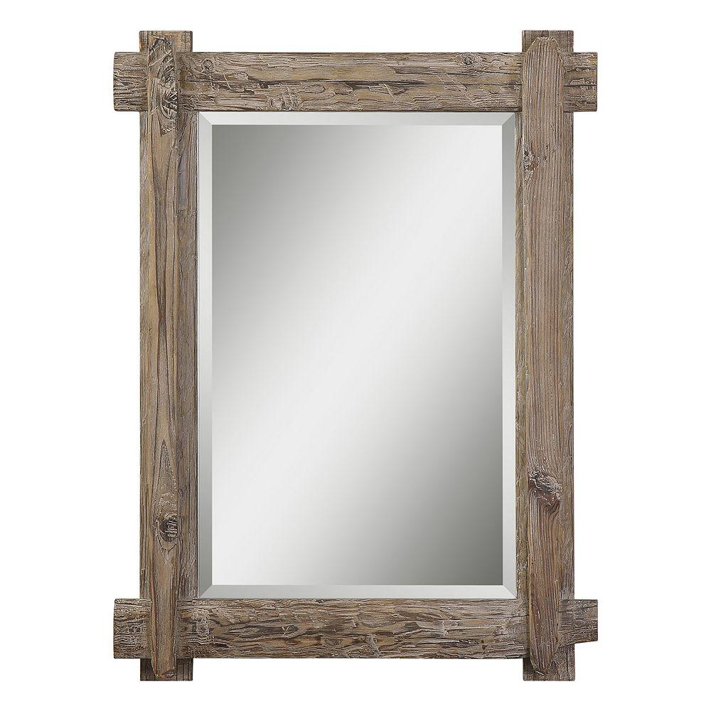 Uttermost Claudio Beveled Wood Wall Mirror