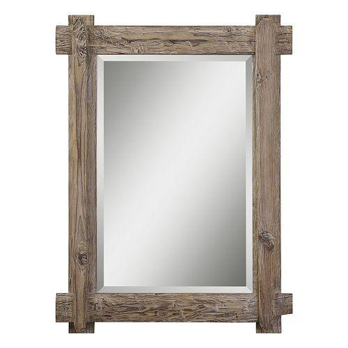 Claudio Beveled Wood Wall Mirror