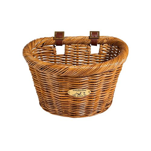 Nantucket Bicycle Basket Co. Cisco Honey D-Shape Bike Basket