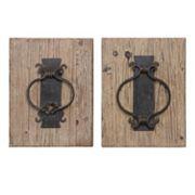 Rustic Door Knocker 2 pc Wall Art Set