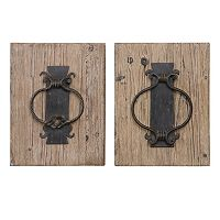 Rustic Door Knocker 2-piece Wall Art Set