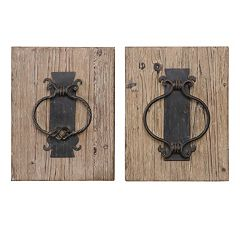 Rustic Door Knocker 2 pc Wall Art Set