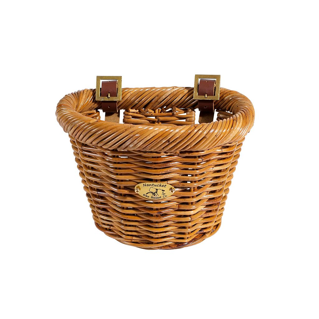 Kids Nantucket Bicycle Basket Co. Cisco Honey D-Shape Bike Basket