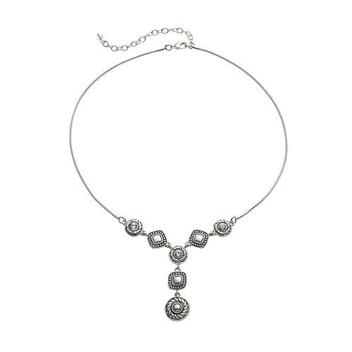 Napier Textured Y Necklace