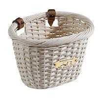 Nantucket Bicycle Basket Co. Cliff Road White Oval Bike Basket