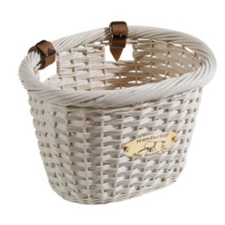 Nantucket Bicycle Basket Co. Cliff Road White Oval Bike Basket