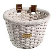 Kids Nantucket Bicycle Basket Co. Cliff Road White Oval Bike Basket