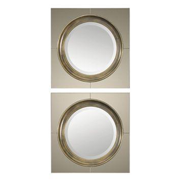 Gouveia Circle Beveled Wall Mirror