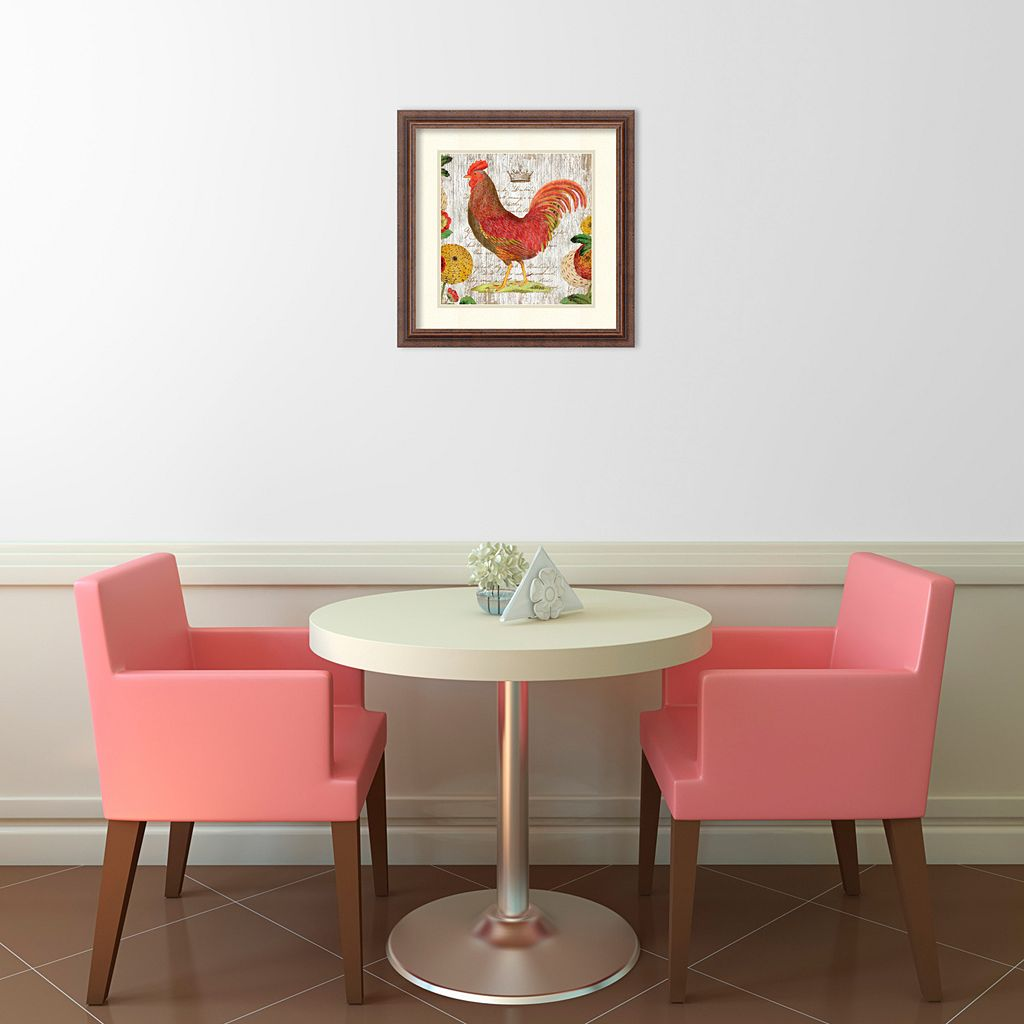 ''Rooster II'' Framed Wall Art