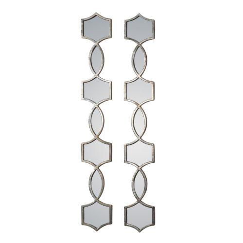 Vinzela 2-Piece Metal Wall Mirror Set