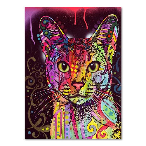 "47"" x 35"" ""Abyssinian"" Cat Canvas Wall Art"