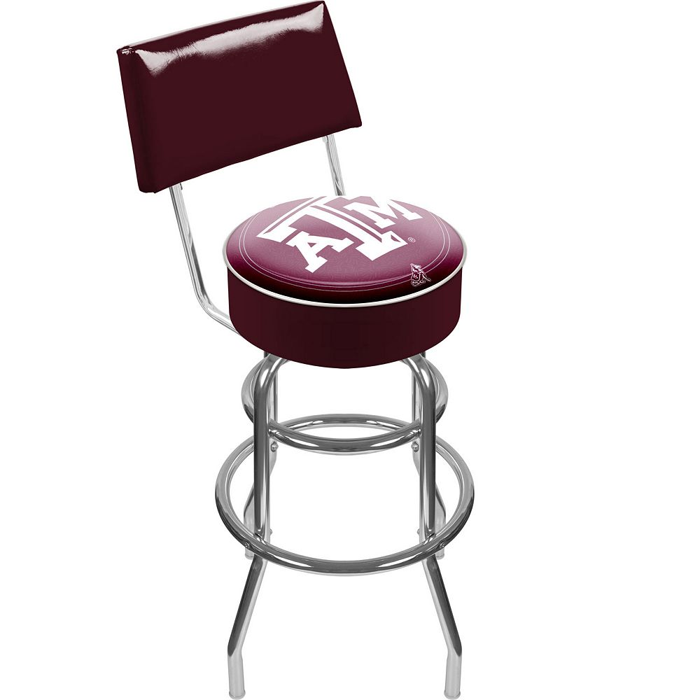 Texas A&M Aggies Padded Swivel Bar Stool with Back