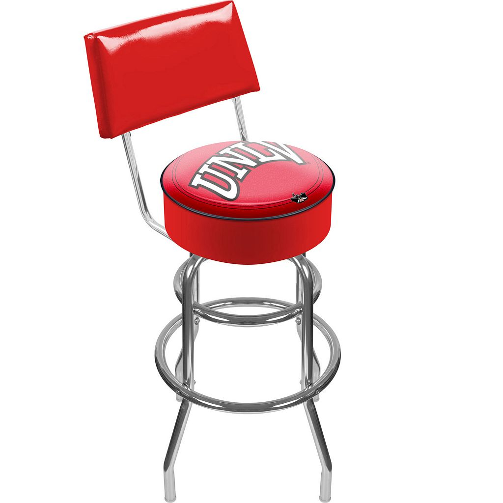 UNLV Rebels Padded Swivel Bar Stool with Back