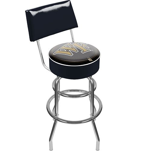 Wake Forest Demon Deacons Padded Swivel Bar Stool with Back