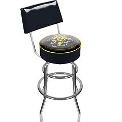 Wichita State Shockers Padded Swivel Bar Stool with Back
