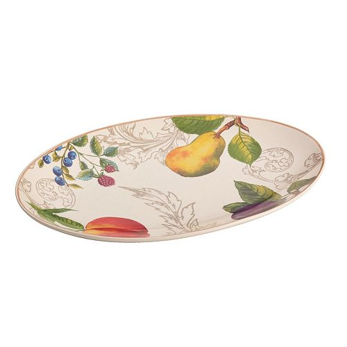 "BonJour Orchard Harvest 8.75"" x 13"" Oval Serving Platter"
