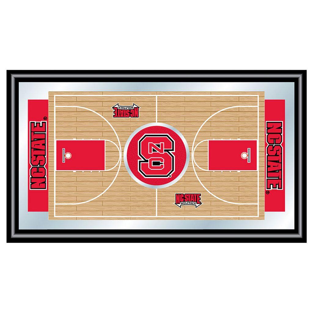 North Carolina State Wolfpack Framed Basketball Court Wall Art