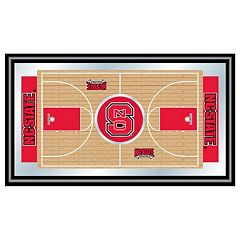 North Carolina State Wolfpack Framed Basketball Court Wall Art