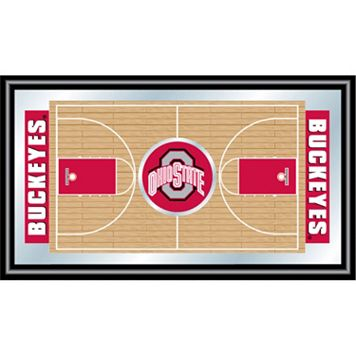 Ohio State Buckeyes Framed Basketball Court Wall Art