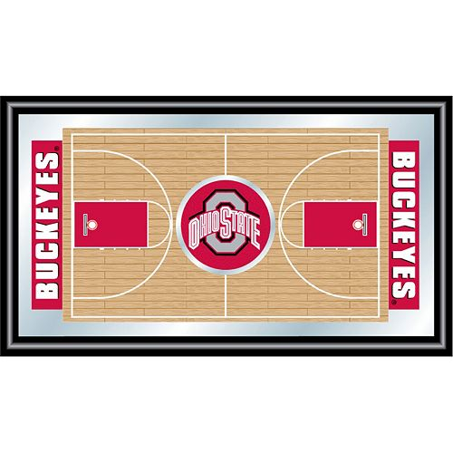 Ohio State Buckeyes Framed Basketball Court Wall Art
