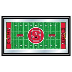 North Carolina State Wolfpack Framed Football Field Wall Art
