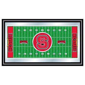 North Carolina State Wolfpack Framed Football Field Wall Art