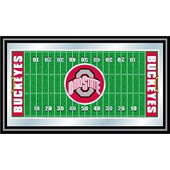 Ohio State Buckeyes Framed Football Field Wall Art