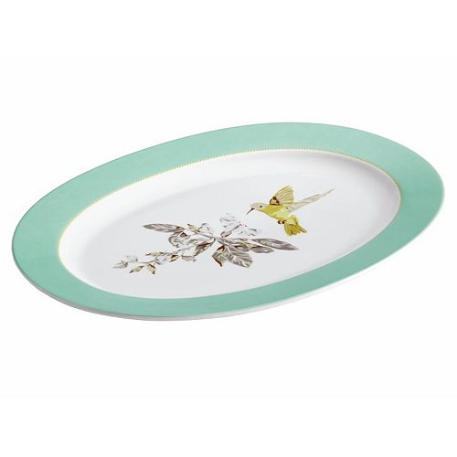 "BonJour Fruitful Nectar 10"" x 14"" Oval Serving Platter"