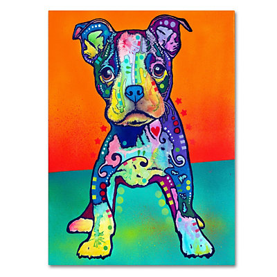 "47"" x 35"" ""On My Own"" Dog Canvas Wall Art"