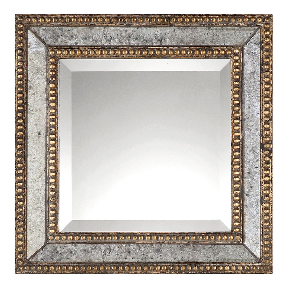 Uttermost Norlina 2-piece Square Distressed Wall Mirror Set