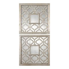 Uttermost Sorbolo Square 2-piece Trellis Wall Mirror Set