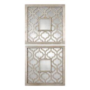 Sorbolo Square 2-piece Trellis Wall Mirror Set