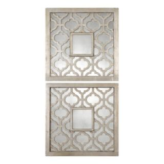 Uttermost Sorbolo Square 2-piece Trellis Wall Mirror Set